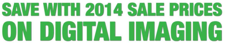 2014 sale prices on digital imaging